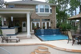 swim up bar outdoor kitchen with pool plus backyard inspirations