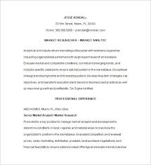 Resume Samples For Marketing Professionals by Marketing Analyst Resume Template U2013 16 Free Samples Examples