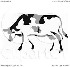 clipart illustration of a black and white paintbrush stroke styled