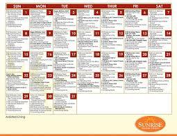 assisted living menu ideas activities programs senior living