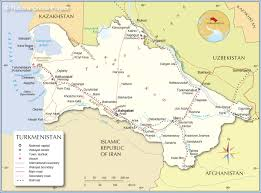 Political Map Of Southwest Asia by Political Map Of Turkmenistan Nations Online Project