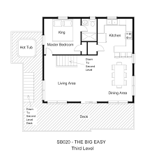 Easy Floor Plans by Oceanside Vacation Rental The Big Easy