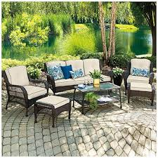 patio table and chairs big lots wilson fisher barcelona resin wicker 6 piece seating set at big