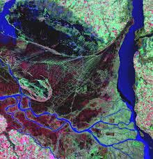 parana river map parana river delta in image of the day