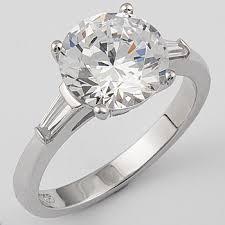 diamond rings zirconia images Round cubic zirconia engagement solitaire baguette ring mystique jpg