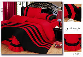 igrab me 72pcent off pure red and black color bedding sets queen