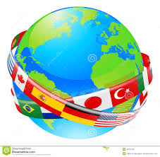 Flags Countries A Earth Globe With Flags Of Countries Illustration 33762425 Megapixl