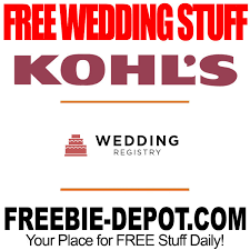 free gifts for wedding registry free wedding stuff kohl s registry gifts freebie depot