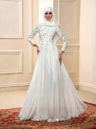 islamic wedding dresses charming beading sleeves a line floor length muslim wedding