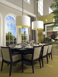 photos hgtv led suspension chandelier hanging over glass dining