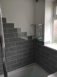 glass subway tile bathroom ideas bathroom tile grey caruba info