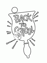 good back to coloring page for kids coloring pages