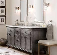 Restoration Hardware Bathroom Cabinet printmakers double vanity sink restoration hardware baño