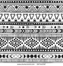 american doodle textile print navajo stock vector 397342294