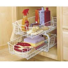 2 tier cabinet organizer closetmaid 12 11 in w 2 tier ventilated wire sliding cabinet