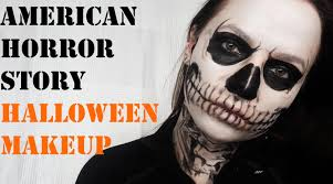 Skeleton Face Paint For Halloween by American Horror Story Tate Langdon Skull Halloween Makeup