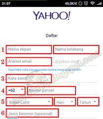 membuat email yahoo indonesia begini loh cara membuat alamat email lewat hp untuk daftar yahoo