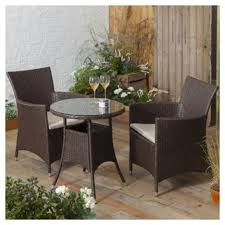 Tesco Bistro Chairs Tesco Corsica Rattan Garden Bistro Set Brown Bistro Set And Gardens