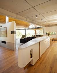 Concrete Ceiling Wave Ceiling Upstairs Boulder Wall Downstairs