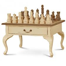 gentleman u0027s chess table 2 drawer w chess set anc brs