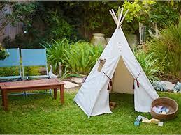 Backyard Teepee Nature U0027s Blossom Teepee Tent Indian Playhouse For Kids With