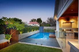Pool Patio Pavers by Garden Backyard Design With Lawn And Patio Pavers Also Pool