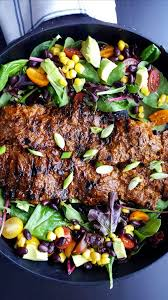 different types of cuisines in the chipotle agave steak ranchera flap steak gastronomama