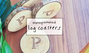 monogrammed wedding gift monogrammed log coasters a creative wedding gift idea sip bite go