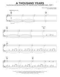 a thousand years sheet music direct