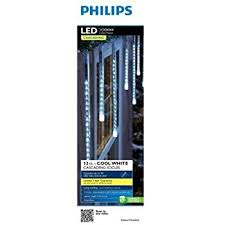 philips 12ct cool white led cascading icicle string