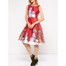 wholesale christmas wholesale sleeveless snowman christmas skater party dress m