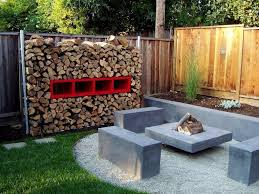 awesome sitting space of cool backyard ideas by applying concrete
