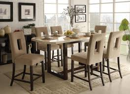 Plain Black Counter Height Dining Room Sets Square Table With - Dining room tables counter height