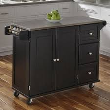 stainless steel topped kitchen islands black kitchen islands carts you ll wayfair