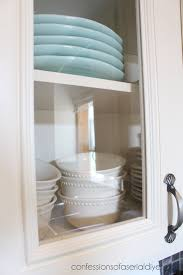 How To Add Glass To Cabinet Doors Confessions Of A Serial Doit - Glass shelves for kitchen cabinets