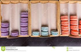 french macarons on display in a bakery stock photo image 69835682