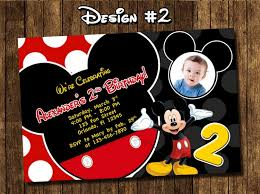 personalized mickey mouse birthday invitations christmanista