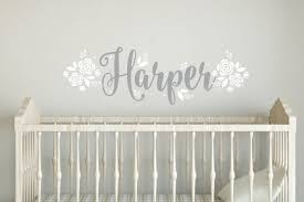 Name Wall Decals For Nursery by Name Wall Decal Personalized Name Vinyl Letters