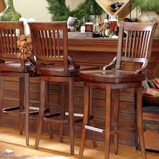 furniture classic wooden counter height swivel bar stools from