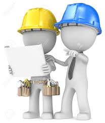 Contractor Building Project Planning Dude The Builder With Contractor Looking