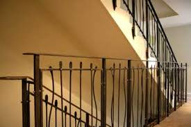 contemporary steel stair railings