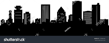 skyline silhouette city rochester new stock illustration