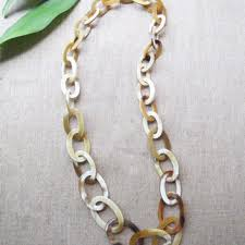 long chunky chain necklace images Best horn link necklace products on wanelo jpg