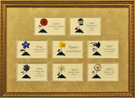 nameme company family trees with pressed flowers