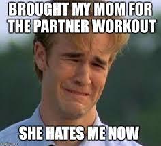 Workout Partner Meme - 1990s first world problems meme imgflip