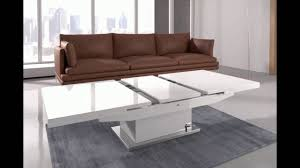 Minimalist Modern Furniture Convertible Coffee Table To Dining Table Ideas White