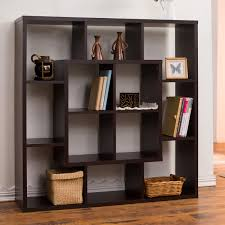 Bookcase Room Dividers by Furniture Of America Aydan Modern Square Walnut Bookshelf Room