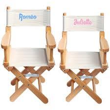 chaise personnalis e chaise metteur en scène enfant personnalisée naturel ecrue