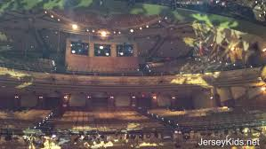 the view from the stage of aladdin at the new amsterdam theater