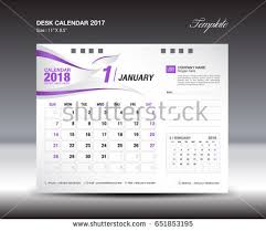 Flat Desk Calendar Year 2017 Calendar With Purple Design Download Free Vector Art